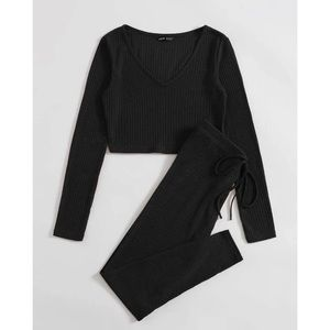 Knit Tee and Leggings Set
